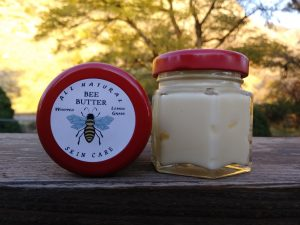 Chapped lips and skin care bee butter jar
